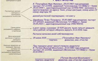 Расписка о займе денежных средств: образец и примеры