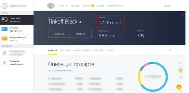 Как узнать кредитный лимит по карте Тинькофф: способы проверки условий договора