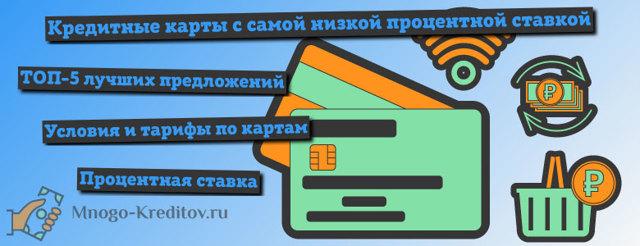 Какой процент по кредитной карте, выбор