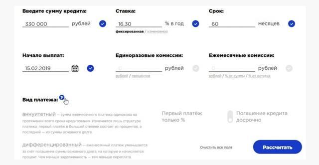 Кредит 200000 рублей в Сбербанке сколько будет процентов годовых, расчет
