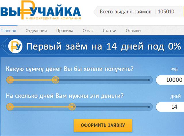 Займ Выручайка: оформить заявку онлайн