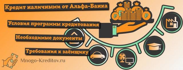 Альфа банк кредит наличными: условия, заявка