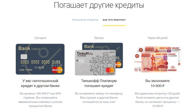 Тинькофф: рефинансирование кредитов других банков, условия и отзывы