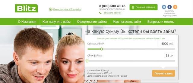 Блиц Займ: личный кабинет, онлайн заявка, условия